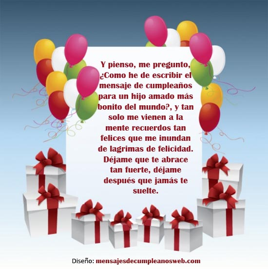 Mensajes de Feliz Cumpleaños para un Hijo 2
