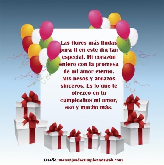 Tarjeta de cumpleaños para mi novia 3