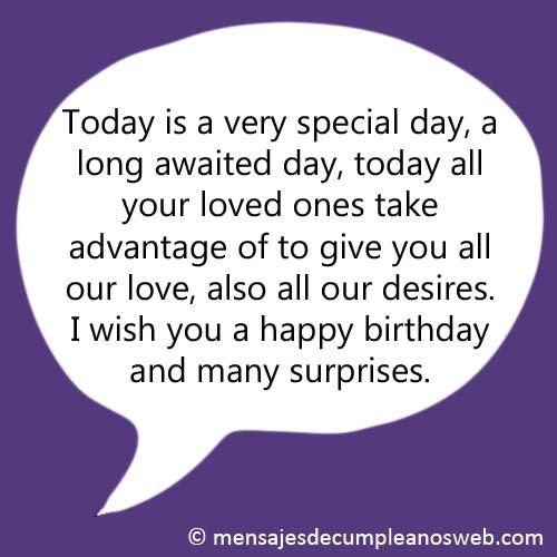 Frase de cumpleaños en inglés 1