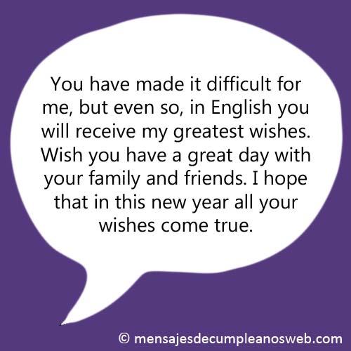 Frase de cumpleaños en inglés 2