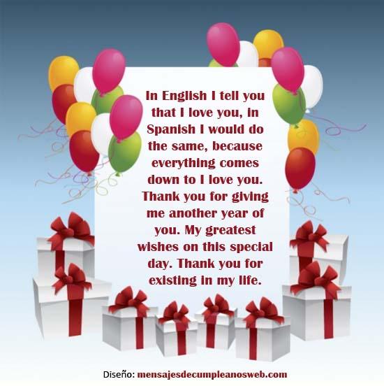 Tarjeta de cumpleaños en Inglés 1