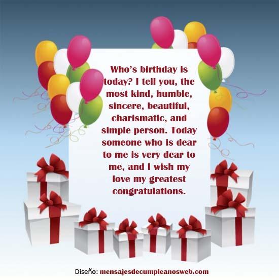 Tarjeta de cumpleaños en Inglés 2