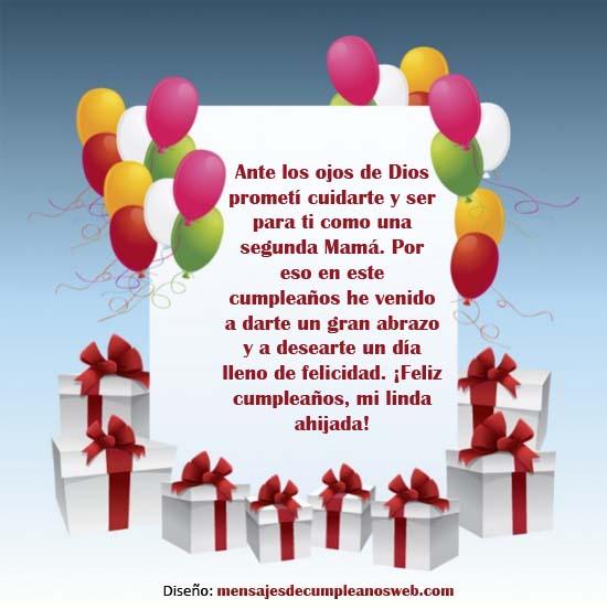 Tarjeta de cumpleaños para una ahijada 3