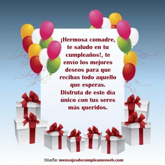 Mensajes de Feliz Cumpleaños para una Comadre 4