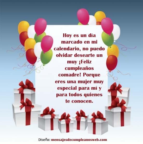 Mensajes de Feliz Cumpleaños para una Comadre 3